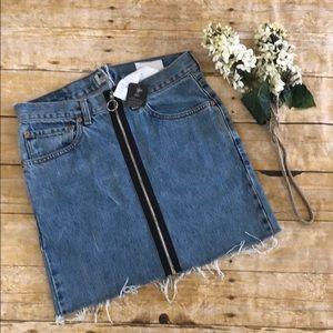 NWT Urban Renewal Recycled Jean Skirt L UO Levi's